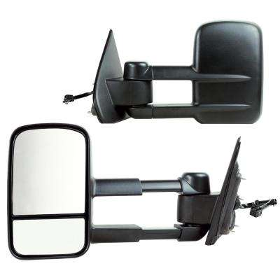 Towing Mirror for 14-17 Silverado/Sierra 1500 15-17 2500/3500 Textured Black 1st Design Foldaway Pair
