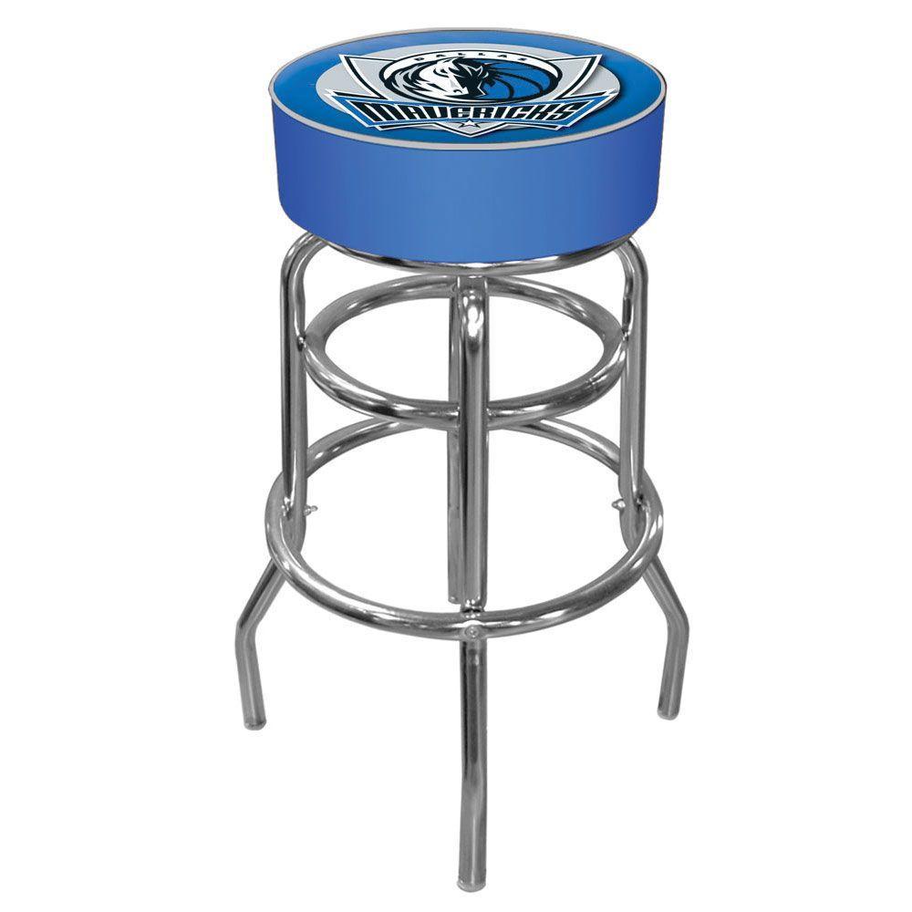 Dallas Mavericks NBA 31 in. Chrome Padded Swivel Bar Stool