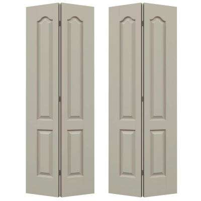 72 in. x 80 in. Princeton Desert Sand Painted Smooth Molded Composite MDF Closet Bi-fold Door