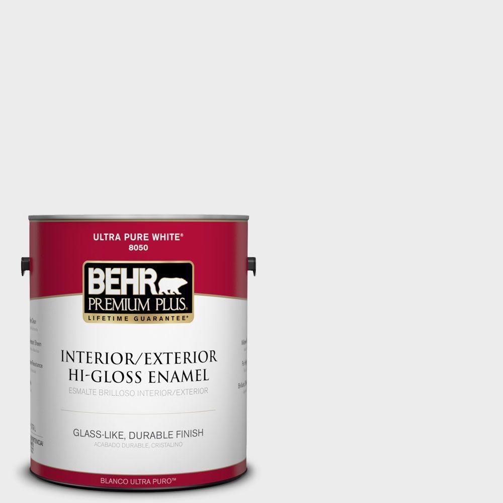 BEHR Premium Plus 1-gal. #PWN-36 Celestial Glow Hi-Gloss Enamel Interior/Exterior Paint