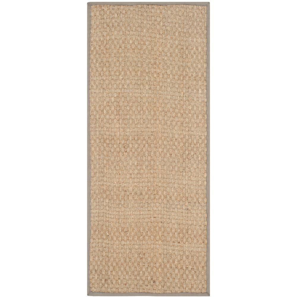 Safavieh Natural Fiber Beige/Grey 3 ft. x 8 ft. Indoor Runner Rug