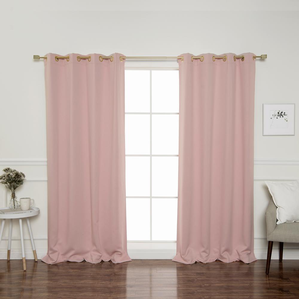 L Triple Weave Blackout Curtain Panel In Dusty Pink 2