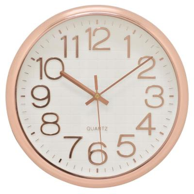 12.5 in. Rose Gold Wall Clock