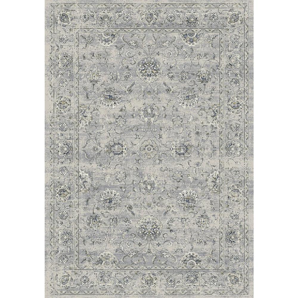 Ancient Garden Silver/Grey 9 ft. x 13 ft. Indoor Area Rug