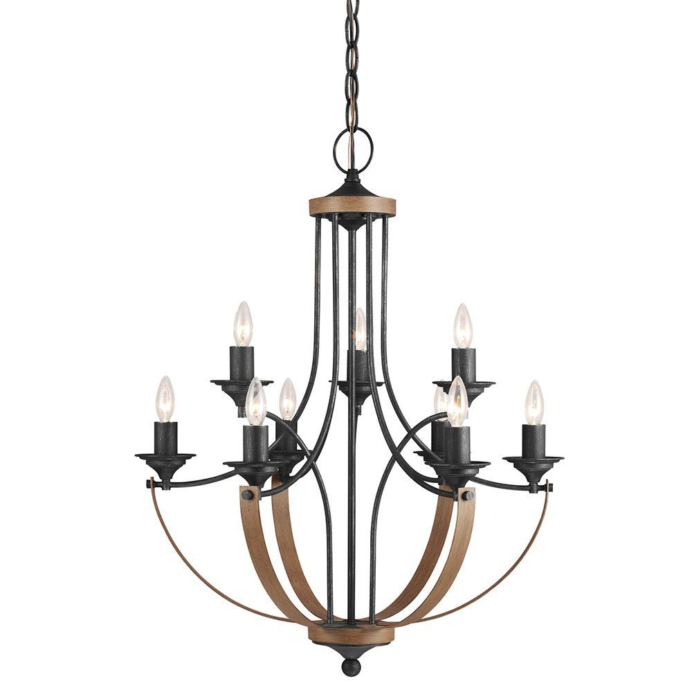 W 9 Light Stardust Multi Tier Chandelier with
