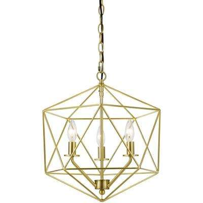 Bellini 3-Light Gold Chandelier