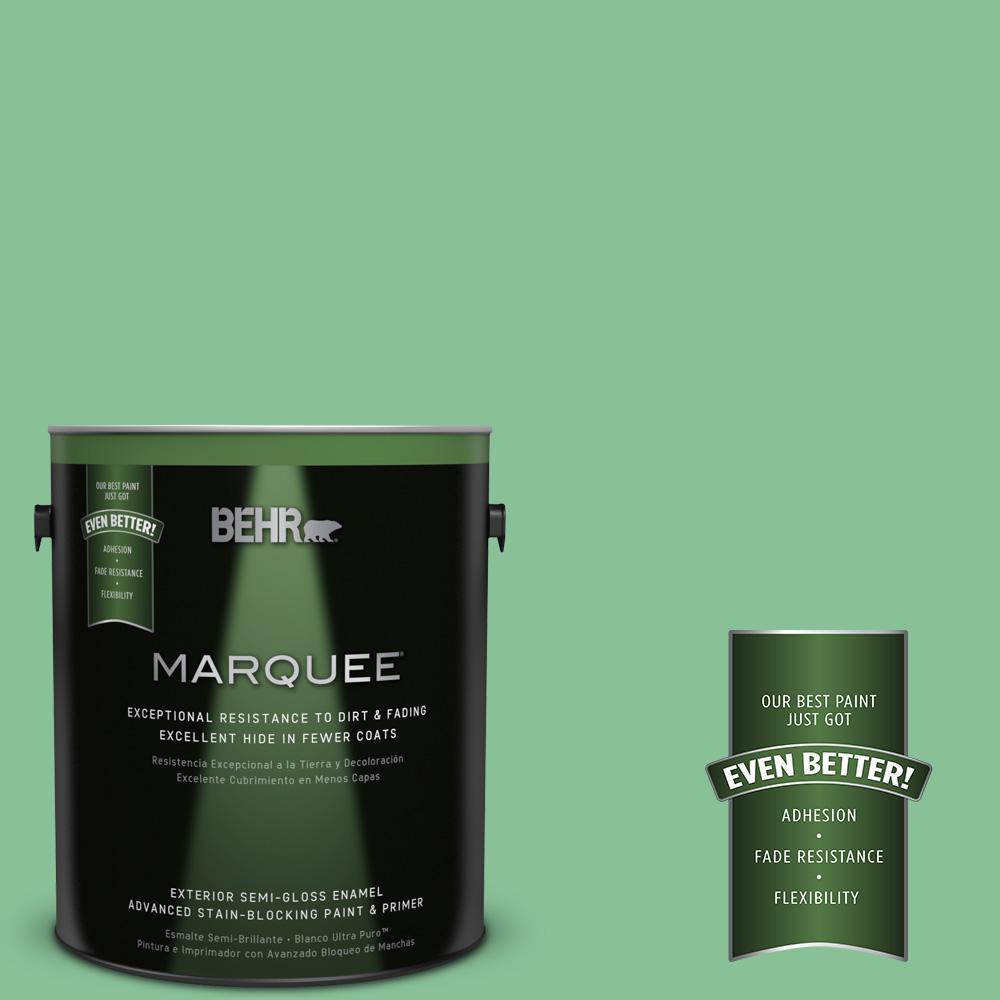 1-gal. #MQ6-40 Country Weekend Semi-Gloss Enamel Exterior Paint