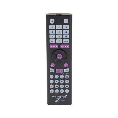 3-Device Universal TV Remote Control with Microban Plastic Case