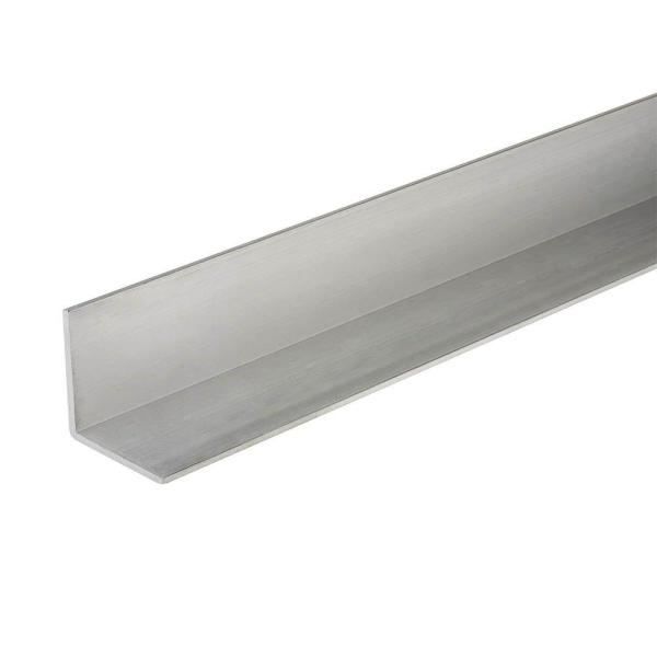 1/2 in. x 96 in. Aluminum Angle Bar with 1/20 in. Thick