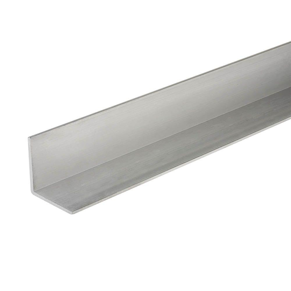 Everbilt 3/4 in. x 1/2 in. x 48 in. Aluminum Flat Angle with 1/16 in. Thick