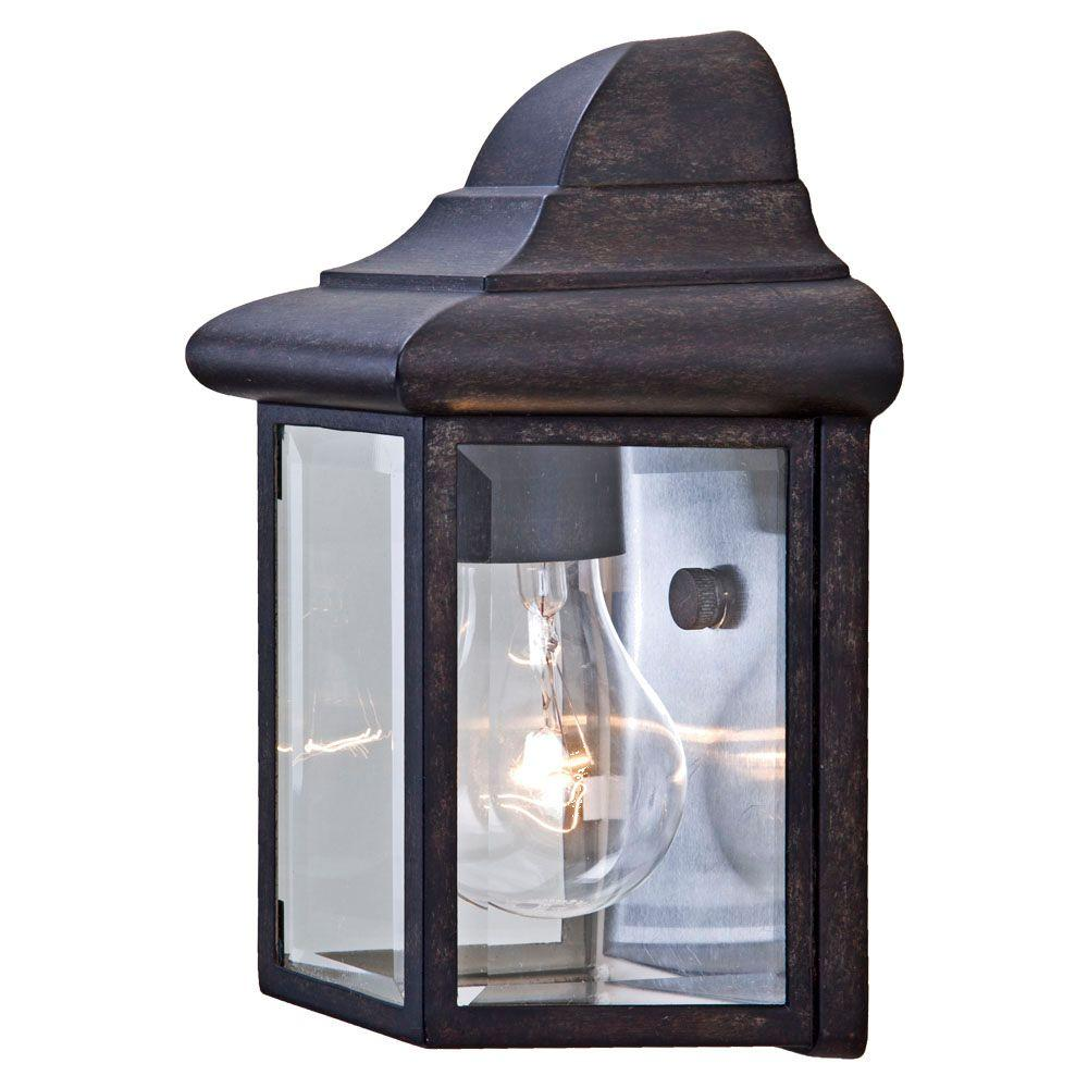 Acclaim Lighting Pocket Lantern Collection 1-Light Black Coral Outdoor Wall-Mount Fixture
