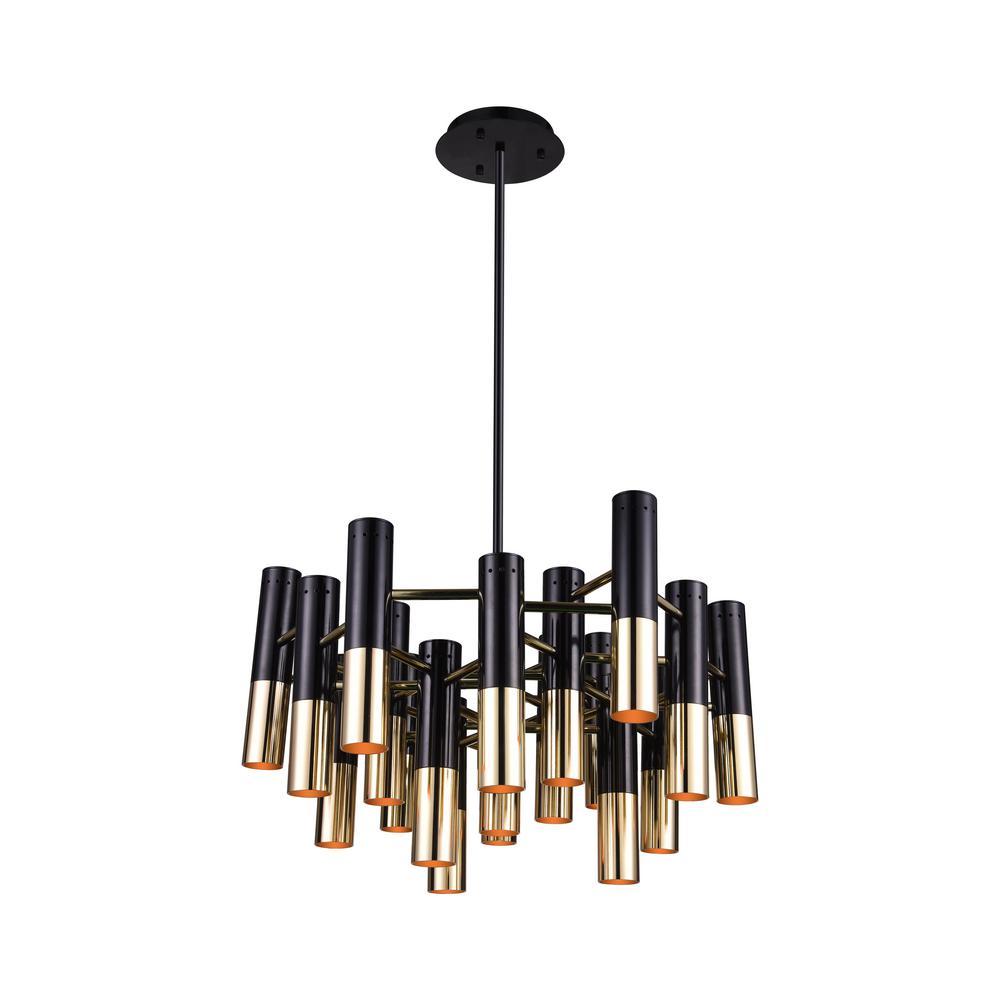 Cwi lighting anem 19 light matte black and satin gold chandelier cwi lighting anem 19 light matte black and satin gold chandelier aloadofball Image collections