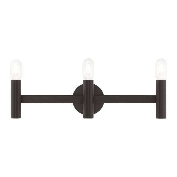 Copenhagen 5.125 in. 3-Light Bronze ADA Bath Light
