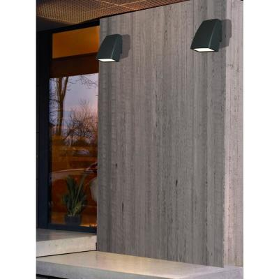 33-Watt Black Outdoor Integrated LED Adjustable Wall Pack Light