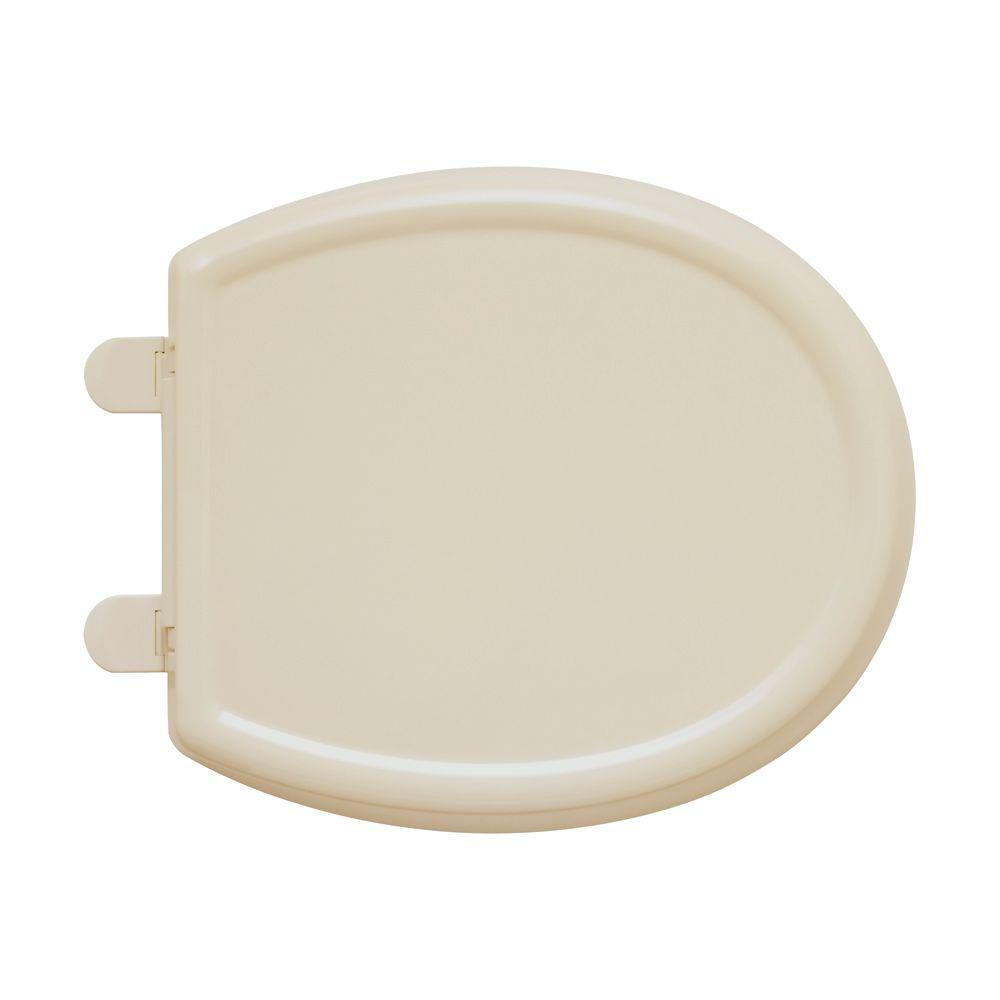 American Standard Cadet 3 Round Closed Front Toilet Seat in Bone (Ivory)