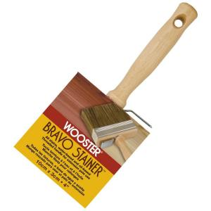 Wooster 4 inch Bristle/Polyester Bravo Stainer Brush by Wooster