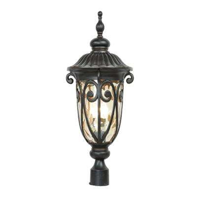 Hailee 3-Light Outdoor Oil-Rubbed Bronze Post Light