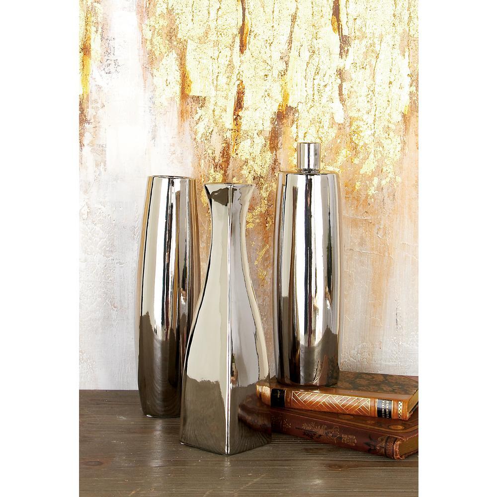 13 in ribbed ceramic decorative vases in gray white and black modern silver ceramic decorative vases set of 3 reviewsmspy
