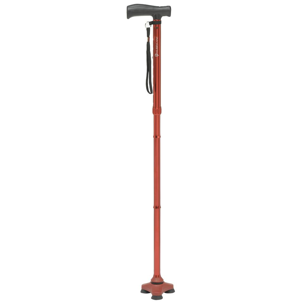 Freedom Edition Folding Cane with T-Handle in Red