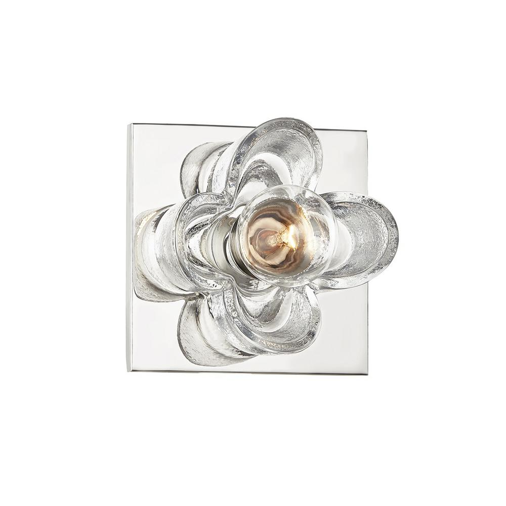 Mitzi by Hudson Valley Lighting Shea 4.75 in. 1-Light Polished Nickel Vanity Light was $112.02 now $76.5 (32.0% off)