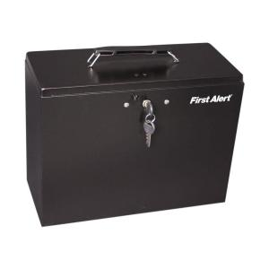 First Alert Steel Construction with Durable Powder Coat Finish File Box by First Alert