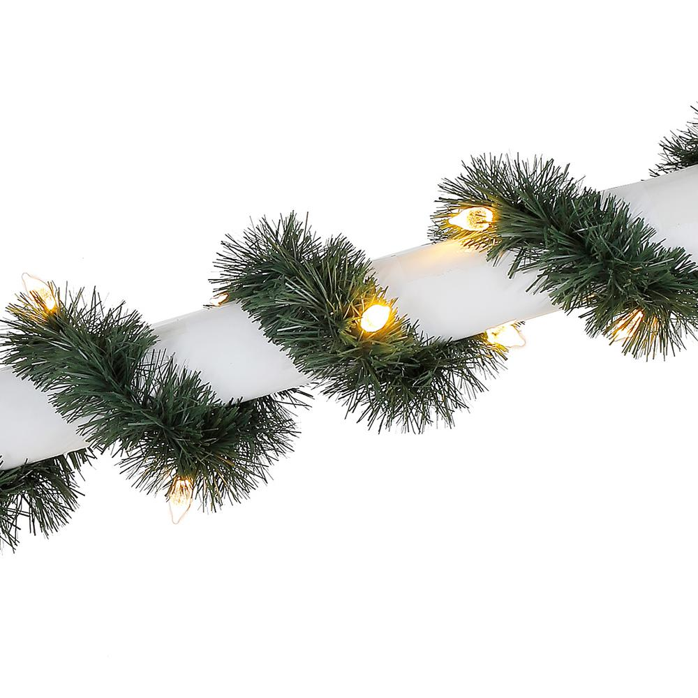 HomeAccentsHoliday Home Accents Holiday 25 ft. Pre-Lit LED Artificial Christmas Roping Garland with 50 Color-Changing C4 Lights