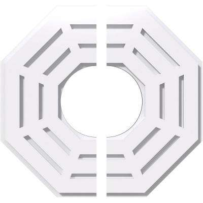 16 in. OD x 6 in. ID x 1 in. P Westin Architectural Grade PVC Contemporary Ceiling Medallion (2-Piece)