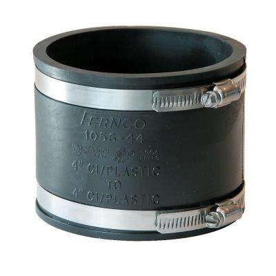 4 in. x 4 in. PVC DWV Mechanical Flexible Coupling