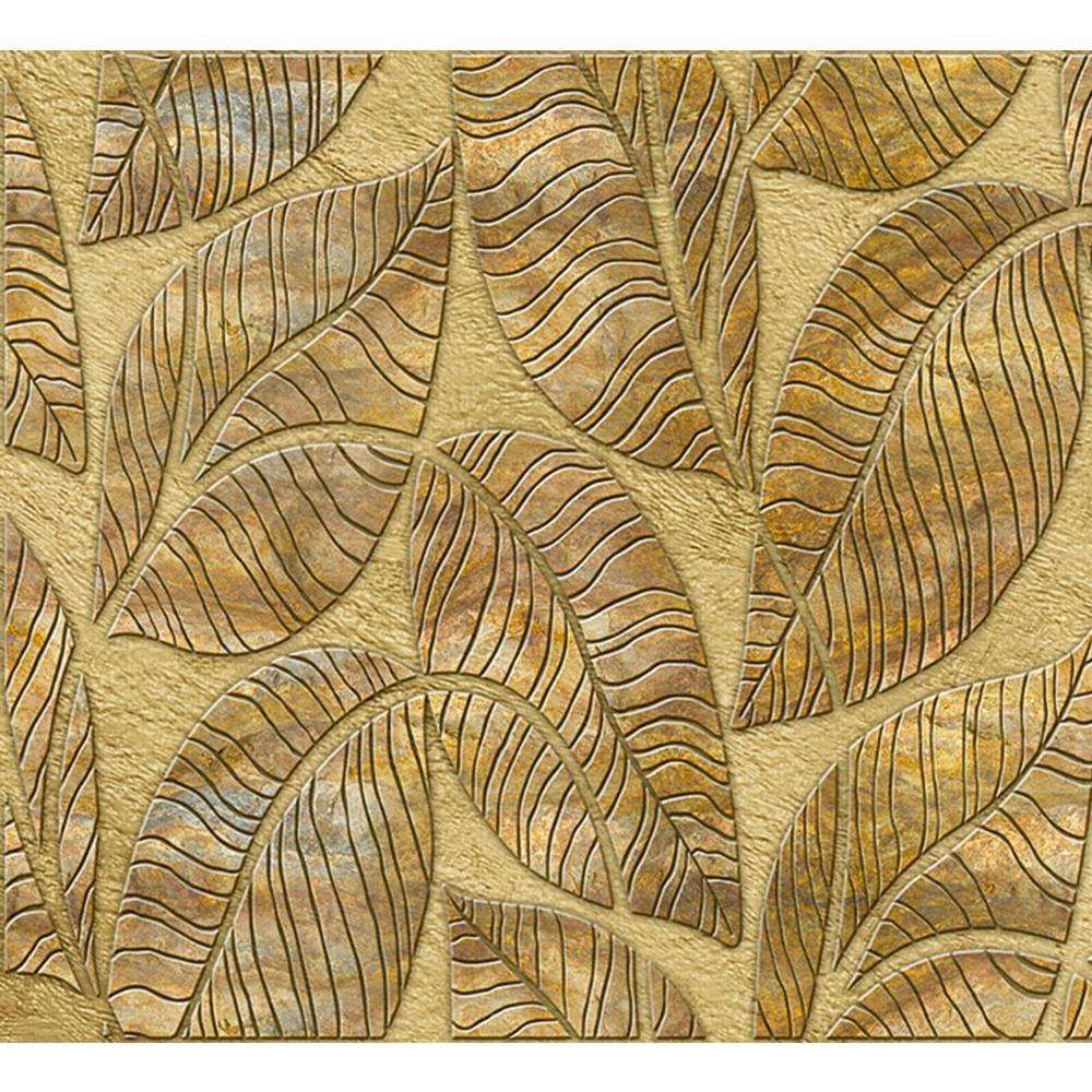 Dundee Deco Falkirk Crest 3D 1/8 in. x 38 in. x 19 in. Greenish Golden Brown Leaves PVC Wall Panel was $35.99 now $25.98 (28.0% off)
