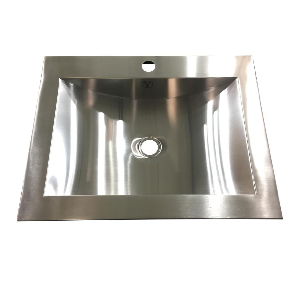 Unbranded Hardy 16.5 in. Undermount Bathroom Sink in Stainless