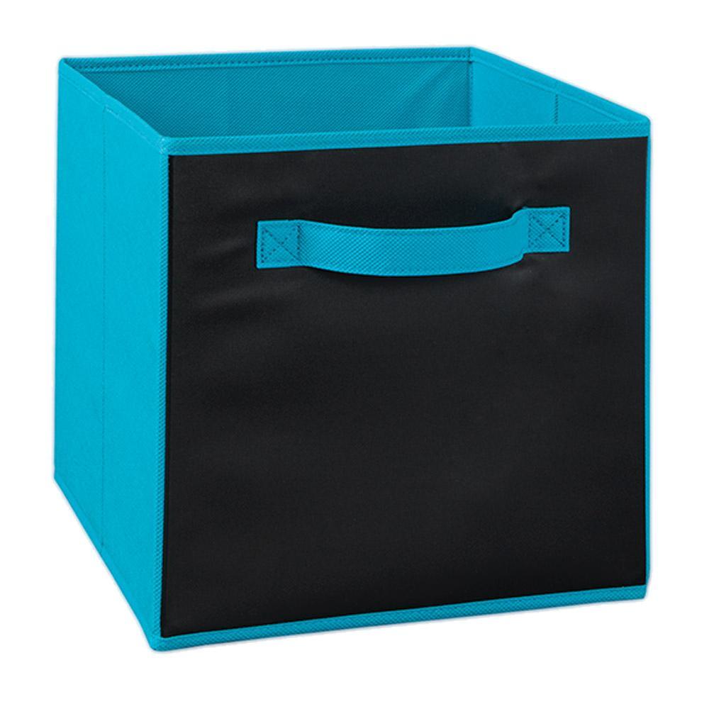 11 in. W x 11 in. H Ocean Blue Chalkboard Fabric Drawer