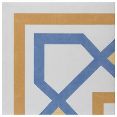 Revival Corner Encaustic 7-3/4 in. x 7-3/4 in. Ceramic Floor and Wall Tile