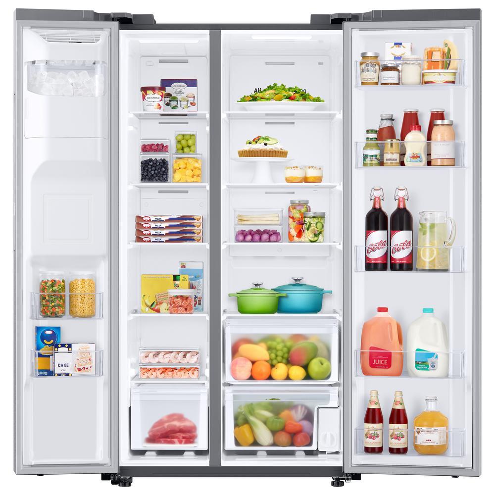 27.4 cu. ft. Side by Side Refrigerator in Fingerprint Resistant Stainless Steel