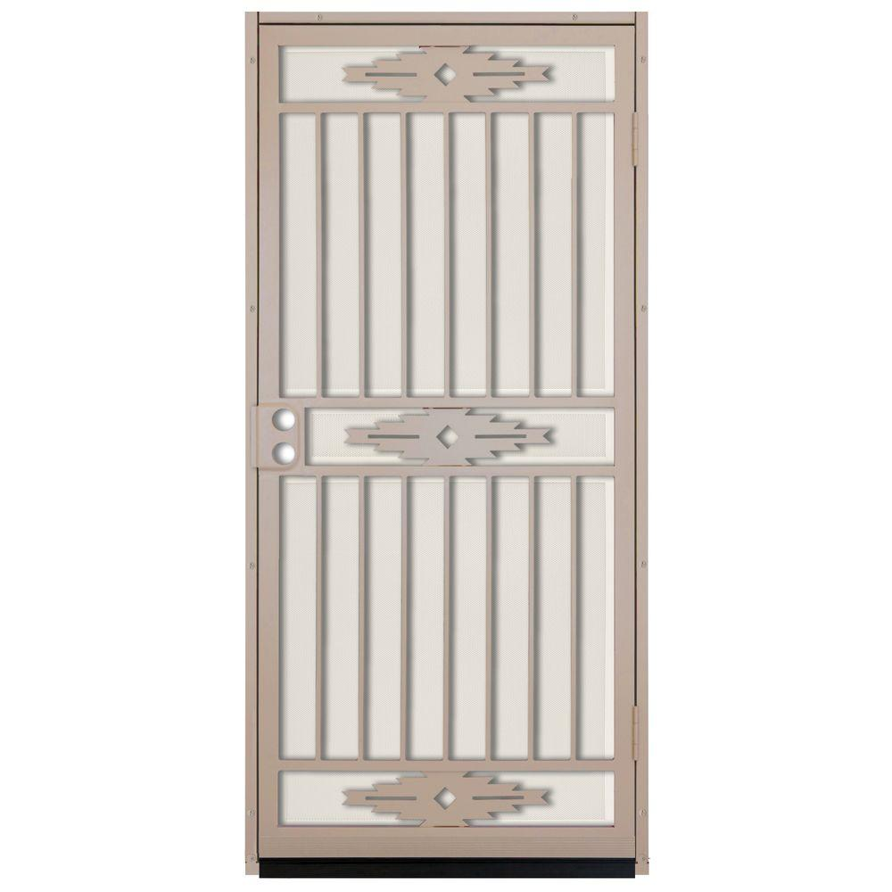 Unique Home Designs 36 In. X 80 In. Pima Tan Surface Mount Outswing Steel