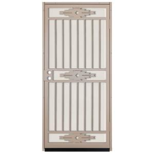 36 In. X 80 In. Pima Tan Surface Mount Outswing Steel Security Door With