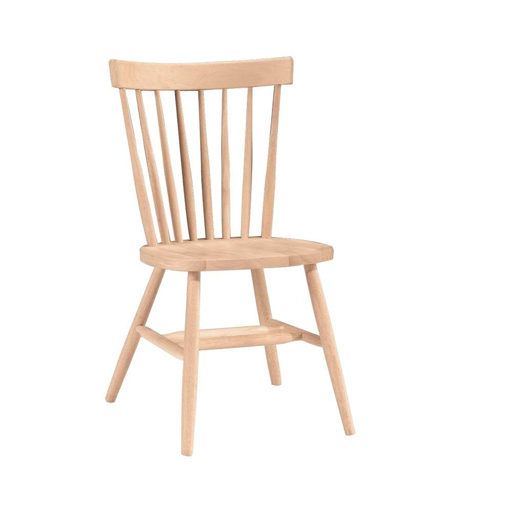 Etonnant International Concepts Unfinished Wood Copenhagen Dining Chair