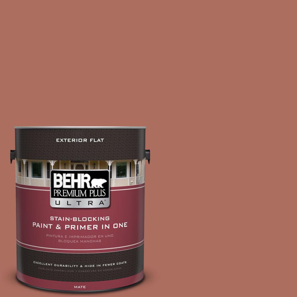 BEHR Premium Plus Ultra 1-gal. #PPU2-12 Terra Cotta Urn Flat Exterior Paint