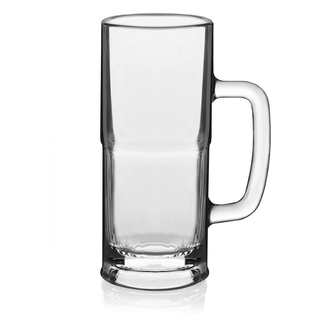 Craft Brews 4-piece Glass Lager Stein Set