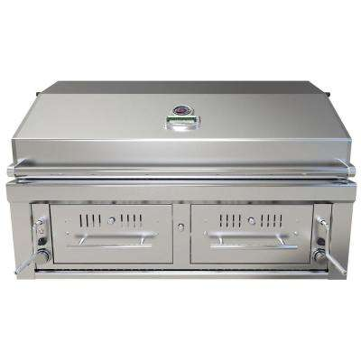 42 in. Gas Hybrid Dual Zone Charcoal/Wood Burning Grill