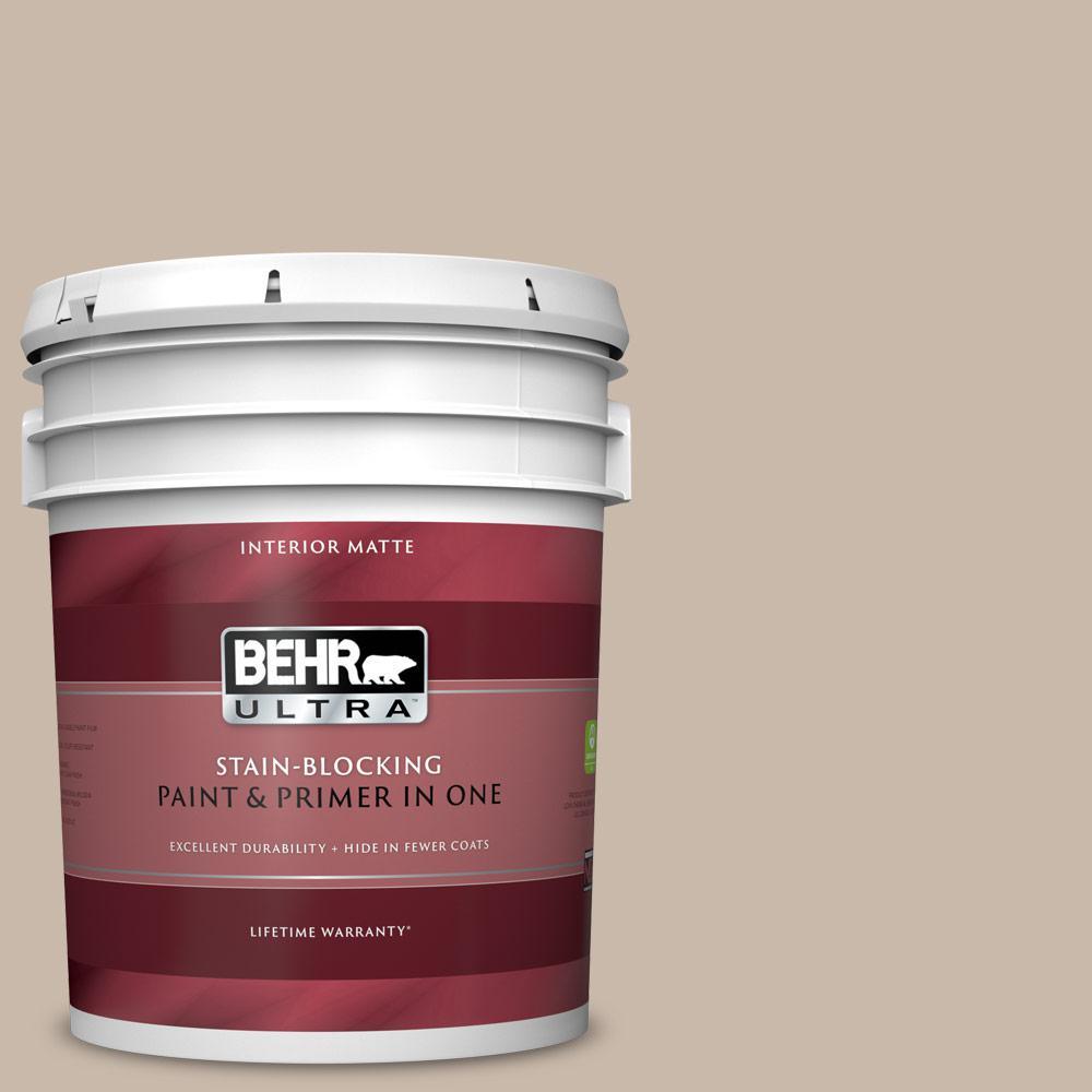 Behr Ultra 5 Gal N230 3 Armadillo Matte Interior Paint