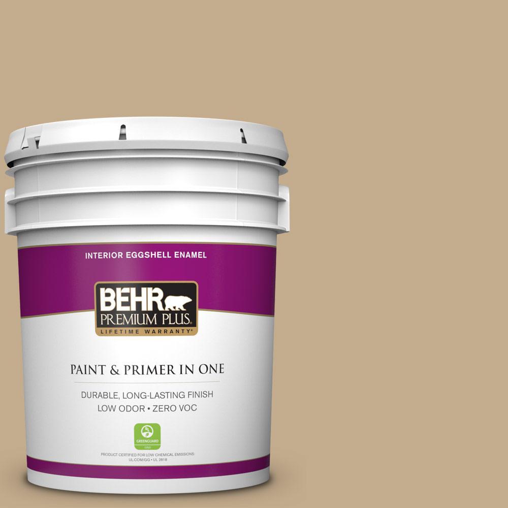 BEHR Premium Plus 5-gal. #BXC-07 Palomino Tan Eggshell Enamel Interior Paint