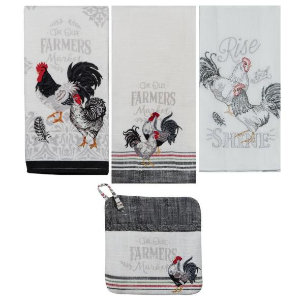 Farmers Market Cotton Multi Kitchen Textiles (Set of 4)