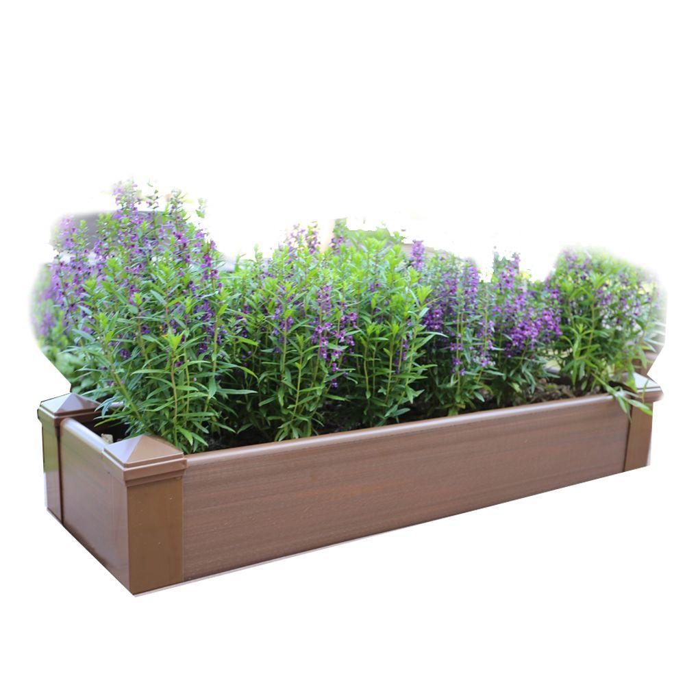 H Composite Lumber Patio Raised Garden Bed