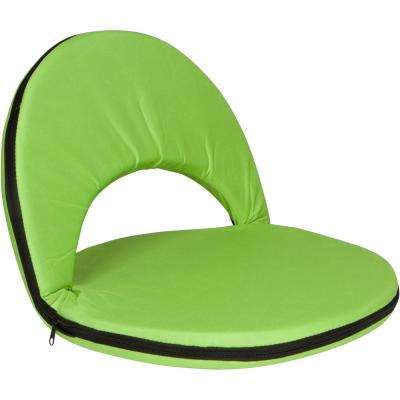 Portable Multiuse Adjustable Light Green Recliner Stadium Seat
