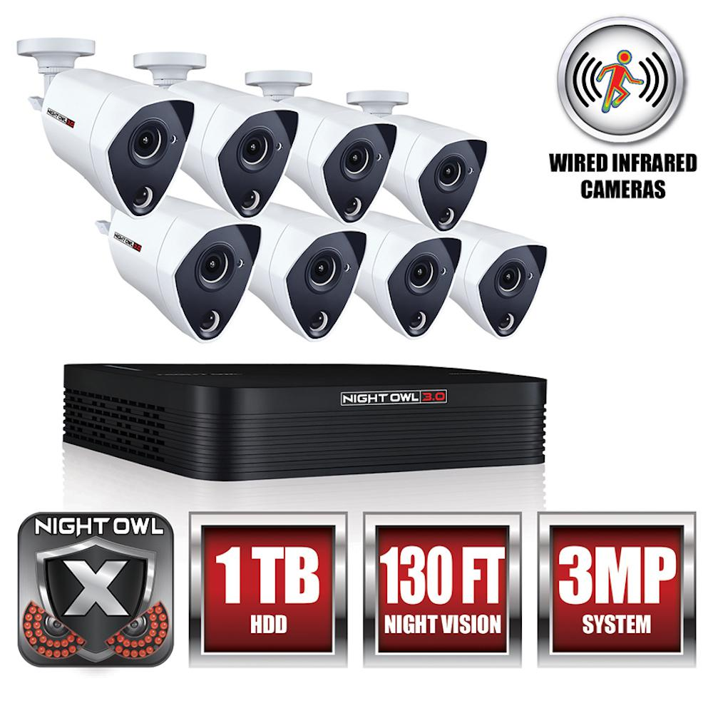 8-Channel 3MP Extreme HD Video Security DVR 1 TB Hard Drive