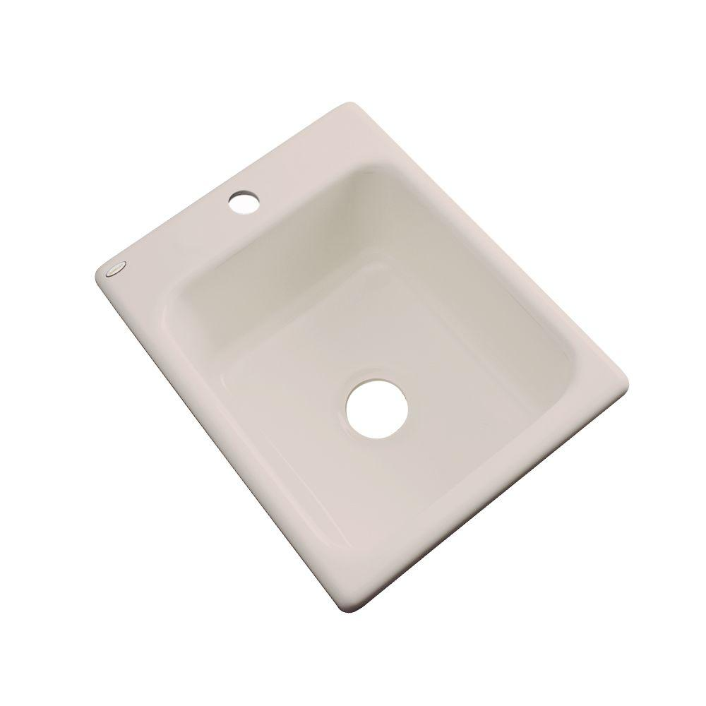 Crisfield Drop-In Acrylic 17 in. 1-Hole Single Bowl Entertainment Sink in