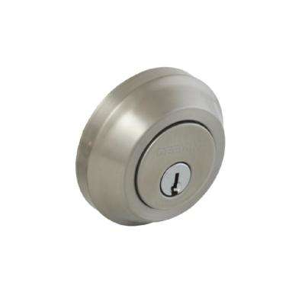 Satin Nickel Low Profile Single Cylinder Deadbolt