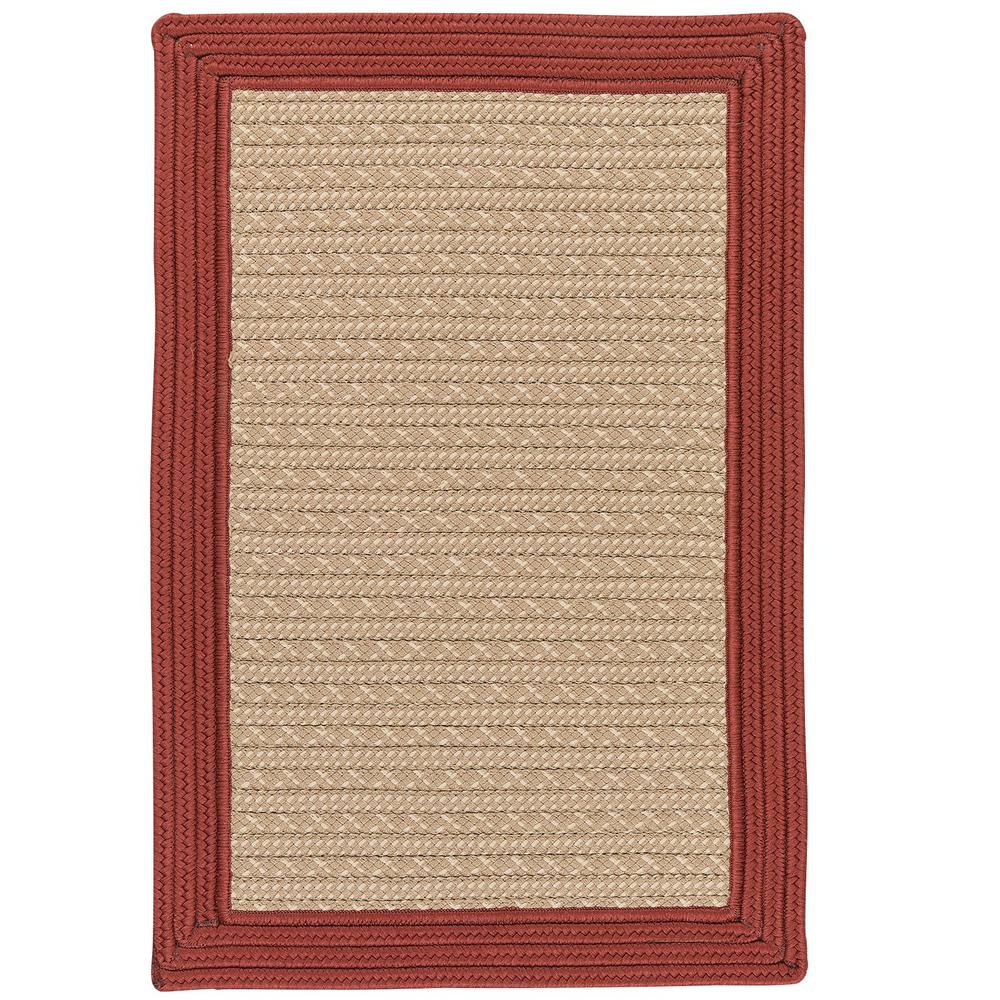 Beverly Brick 4 ft. x 6 ft. Braided Indoor/Outdoor Area Rug