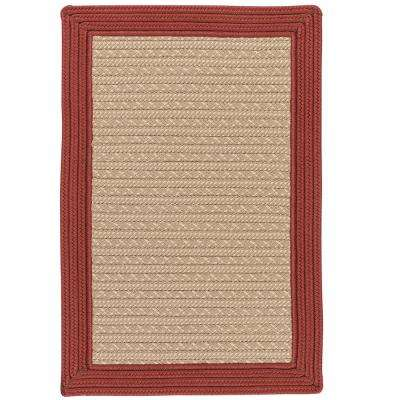 Beverly Brick 8 ft. x 10 ft. Braided Indoor/Outdoor Area Rug
