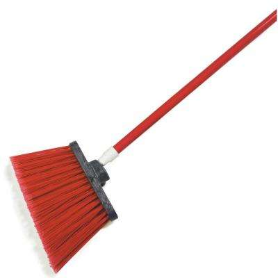 Sparta Spectrum 56 in. Duo-Sweep Angle Broom with Flagged Bristle in Red (Case of 12)